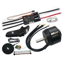 Maytech 8085 160KV Brushless Outrunner Sensored BLDC Motor MTSKR1905WF Remote with Screen New 200A VESC6.0 based Controller