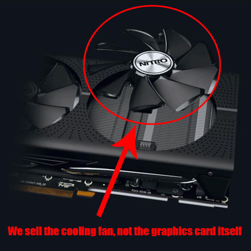 NEW SAPPHIRE AMD Radeon Video Card Cooling Fan NITRO+/PULSE RX470 RX570 RX480 RX580 RX590 4G/8G Graphics Card Cooler Fans