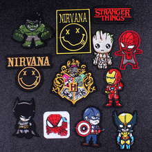 Pulaqi Nirvana Brand Patch Rock DIY Embroidered Iron On Patches For Clothing Avengers Letter Badges Applique Stripes