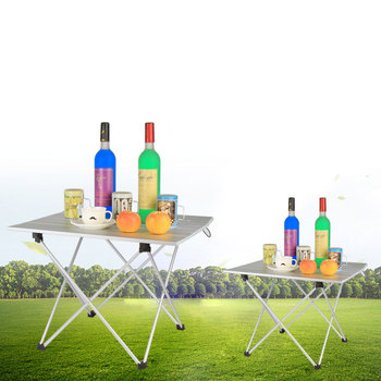 Aluminum Alloy  Outdoor Camping Folding Table For Picnic BBQ Travel Self-driving Tour Dinner Hiking Ultra-light Desk M - sale item Outdoor Furniture