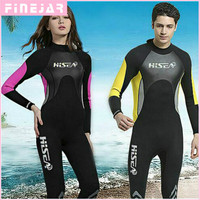 Hisea 3mm Neoprene Wetsuit Swimsuit Equipent For Diving Scuba Swimming Surfing Spearfishing Suit Triathlon Wetsuit M059