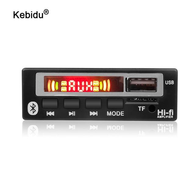 Kebiduカーオーディオのusb tf fmラジオモジュールワイヤレスbluetooth 5v 12v MP3 wmaデコーダボードMP3プレーヤー車用リモコン付き