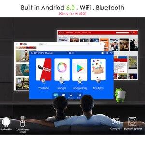 Image 3 - AUN MINI Projektor W18, 2800 Lumen (Optional Android 6,0 wifi W18D), unterstützung Full HD 1080P LED Projektor 3D Heimkino