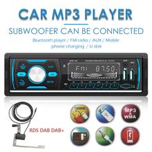 Auto Stereo Auto Audio centralne FM samochodowe Stereo 1 DIN Radio samochodowe z Bluetooth USB TF AUX FM AM RDS DAB Auto Stereo radioodtwarzacz Stereo tanie tanio ALLOYSEED CN (pochodzenie) Jeden Din 400g Odtwarzacze mp3 universal 20x11x7 5cm Car Radio Chiński (uproszczony) Chiński (tradycyjny)