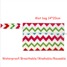 Waterproof Reusable Wet Bag Printed Pocket Nappy Bags PUL Travel Wet Dry Bags Mini Size 20x14cm Diaper Bag(China)