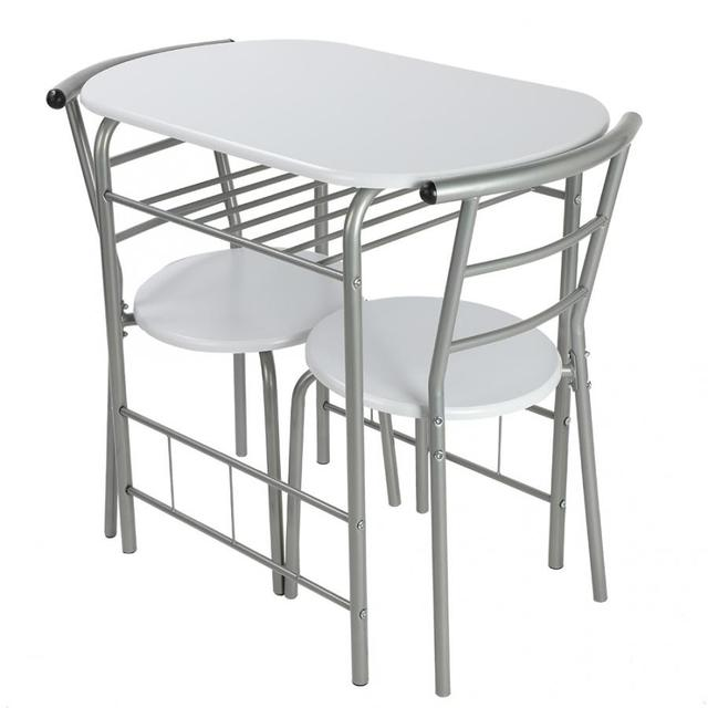 3Pcs Breakfast Table Chairs 2
