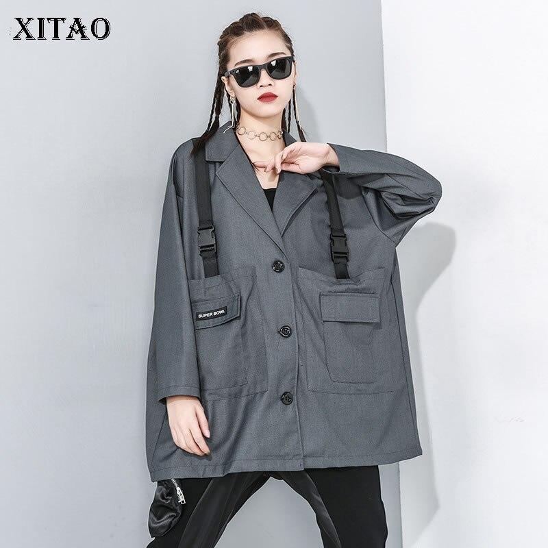 XITAO Europe Style Tide Brand  Women Blazers And Jackets Fashion Plus Size Streetwear Blazer Feminino Spring Coat Women DMY2846