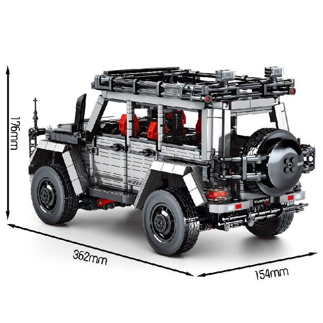 MOC 1852pcs City Classic High-Tech Car Off-Road Vehicle Speed Champions Building Blocks Bricks Model DIY Toys for Kids Gifts 2
