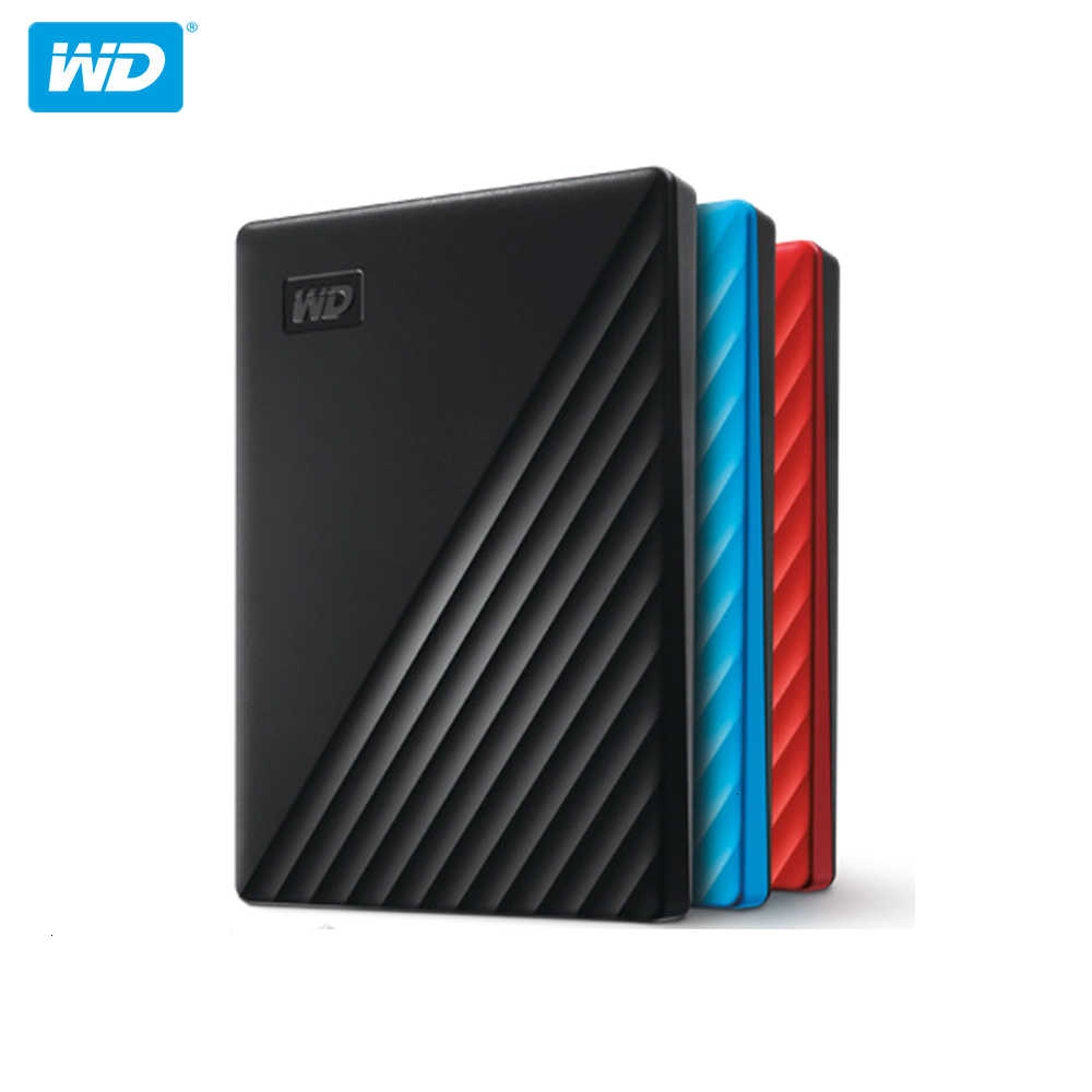"WD My passeport disque dur externe disque dur 1 ТБ 2T 4T Портативный 2,5 ""HDD USB 3,0 256 AES криптаж HDD HD dispositif de stockage"