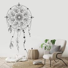 Dream Catcher Vinyl Wall sticker  Feather For Bedroom wall decal Kids Room decor Art Mandala Home mural HJ546 colorful dream catcher flying feather wall stickers symbol home decor bedroom accessories living room decal mural art poster