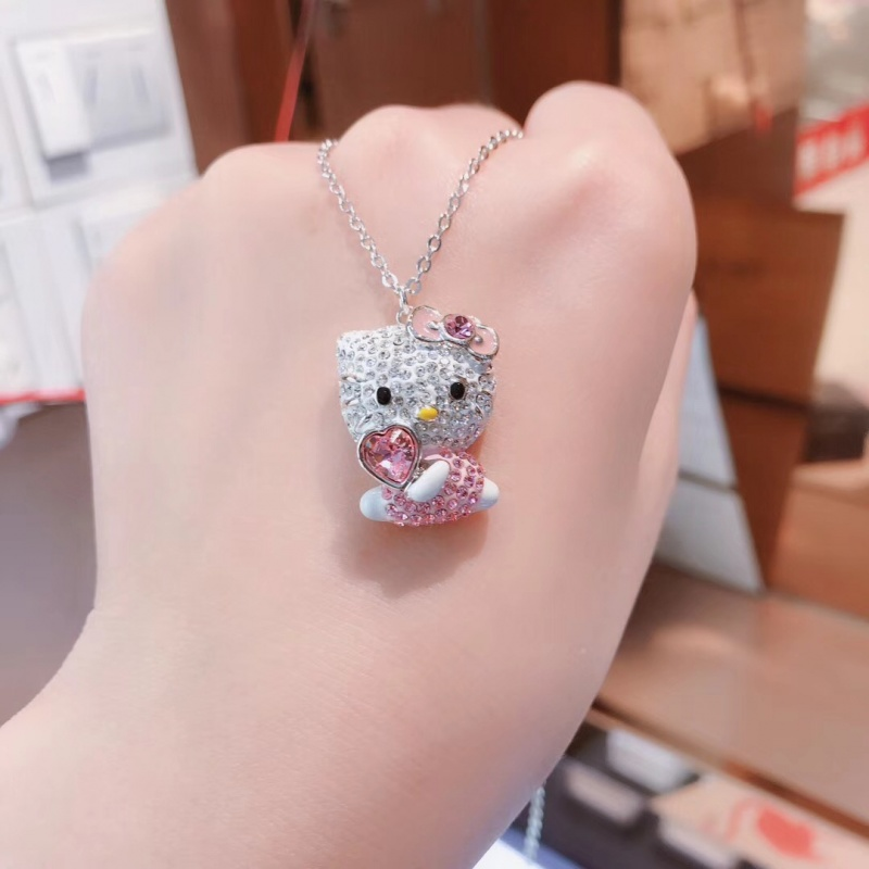 High Quality SWA New Lovely Pink Charming Clavicle Chain Fashion Lady 39 s Necklace in Pendant Necklaces from Jewelry amp Accessories