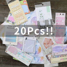 20Pcs/Pack Cute Memo Pad Sticker Post It N Times Sticky Decal Sticky Notes Diary Scrapbooking Diy Kawaii Bookmark Notepad