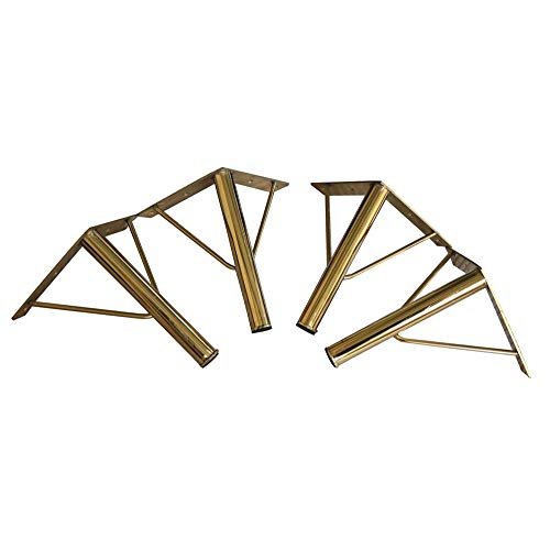 Metal Furniture Legs Gold Suitable For Sofa / Porch Cabinet / Coffee Table Height Of 20.32 Cm 4 Pieces 15 Cm Coffe Table