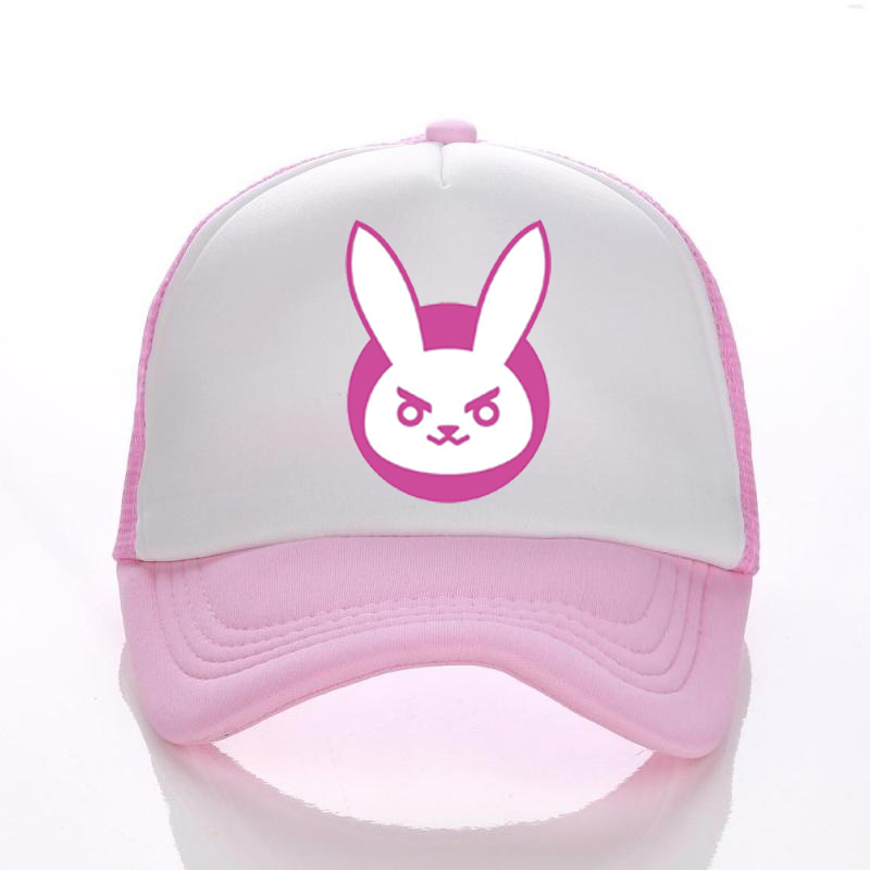 Overwatch Bunny Reinhardt Reaper Mesh Cap Adjustable Baseball Hat Dad Caps Unisex Kids Adult