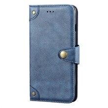 Pour Oukitel K12 étui de luxe rétro magnétique portefeuille à rabat en cuir Capa étui pour Oukitel K12 couverture Fundas métal boucle Design
