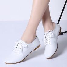 Sapatilhas de couro legítimo femininas, sapatos baixos para mulheres 051 senhoras, outono 2019