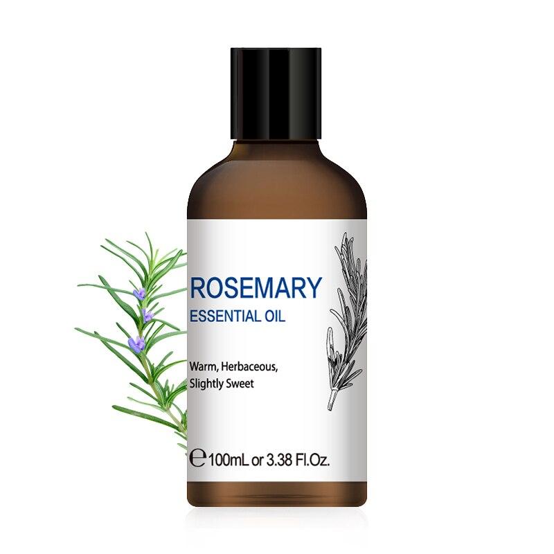HIQILI 1OZ 30ML Massage Rosemary Orange Essential Oil Diffuser Aroma Oil Chamomile Lemongrass Juniper Clary Sage Black Pepper