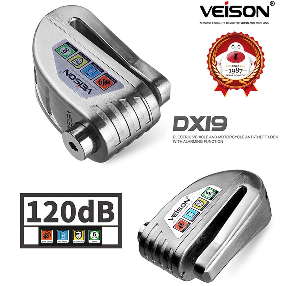 Image 2 - Veison Scooter Disc Lock Waterproof Alarm Lock for Bike Alarm  Anti theft Safety Motorcycle Brake Rotor Padlock Disc Brake LockTheft  Protection   -