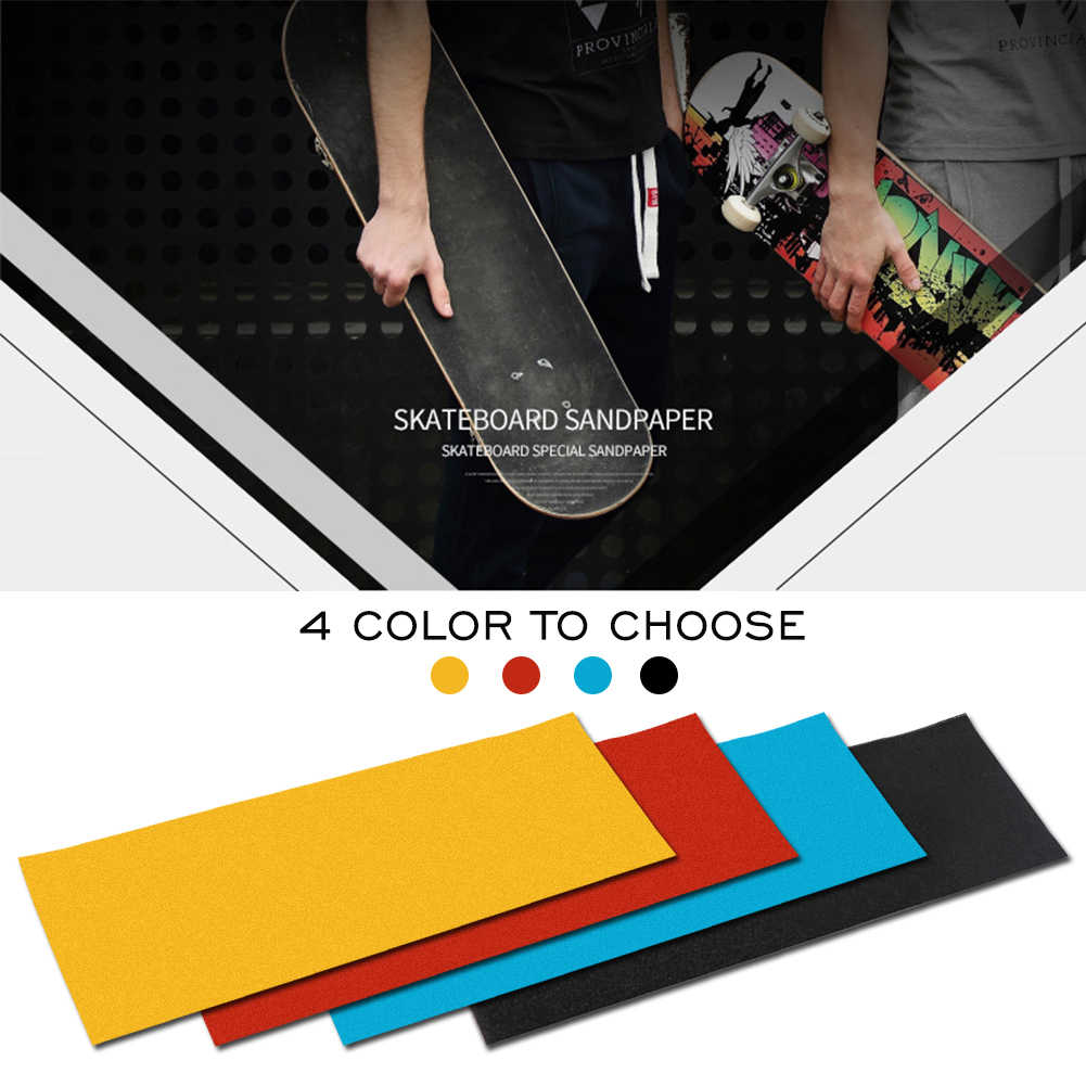 Grip Tape Skateboards No Bubbles PVC Parts Anti-slip Sticker Perforated Rough