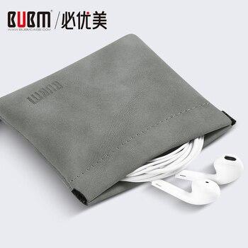 Estuche BUBM portátil de acero inoxidable metralla auriculares bolsa de almacenamiento de memoria tarjeta organizador para USB de almacenamiento de Cable de bolsa
