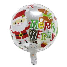 Christmas Balloons Santa Claus Foil Balloons Gift Box Globos Christmas Bell Balls Christmas Decorations Xmas Ornament Qqsd1(China)