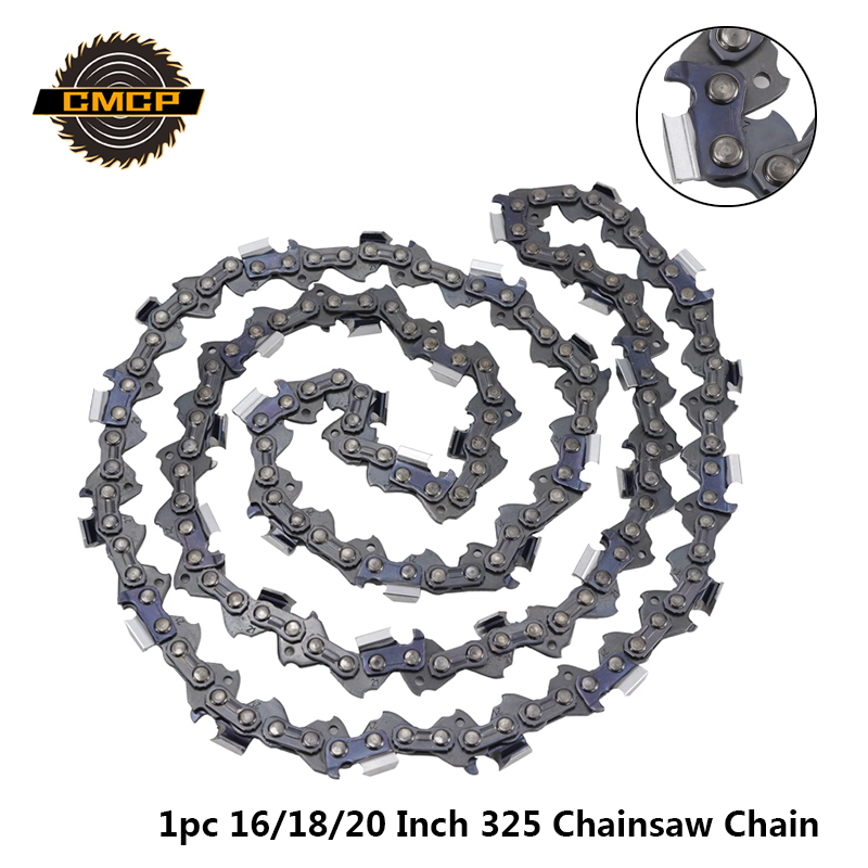 1pc 16/18/20 Inch Chainsaw Chain Fit For 325 Gasline Chainsaw 64/72/76 Drive Link Chainsaw Blade 0.325''LP 058 Electric Saw