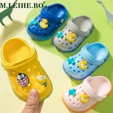 Sunnywill Summer Unisex Baby Hole Slippers Newborn Toddler Cute Lightweight Cartoon Caterpillar Beach Sandals Clog Flip Shoes Infant Kids Baby Girls Flip Flops First Walkers Outdoor Sneakers