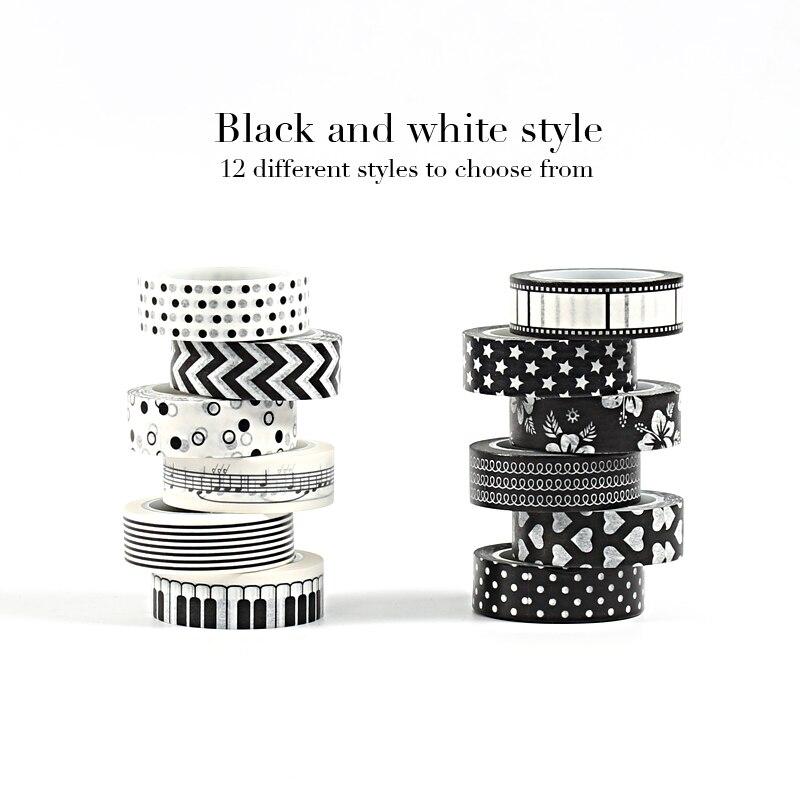 Washi Tape Set Wash Washitape Masking Vintage Whasi Decorative Tapes Adhesive Tape For Stickers Scrapbooking Bullet Journal