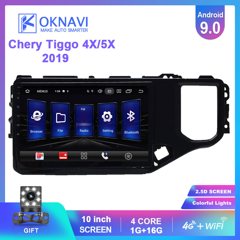 OKNAVI 2 Din Android 9.0 Car Multimedia Player ForChery Tiggo 4X 5X 2019 Car Radio Stereo With Frame Head Unit GPS Navigation(China)
