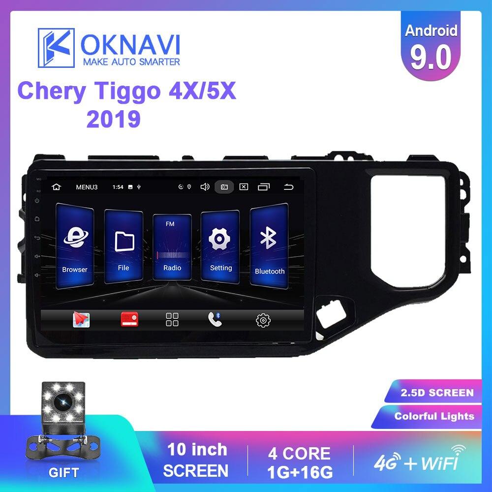 OKNAVI 2 Din Android 9.0 Car Multimedia Player ForChery Tiggo 4X 5X 2019 Car Radio Stereo With Frame Head Unit GPS Navigation(China)