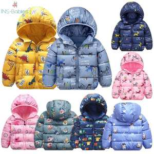 Baby Girl Clothes Children's jacket Hooded Cartoon jacket for girls 2y-6y pink fashion Winter Jackets For Boys Toddler Coat 2020