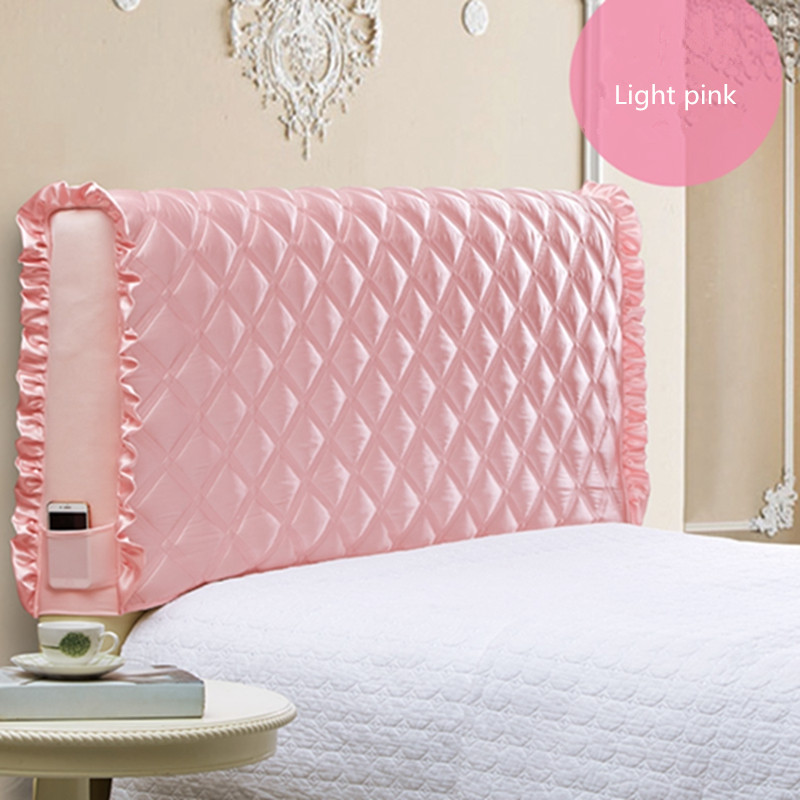 European bed cover fabric all inclusive bed back cover thick anti collision dust cover can be