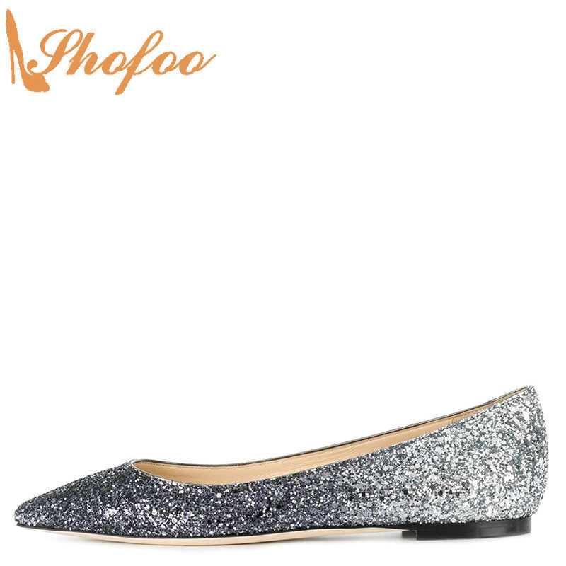 Silver Navy Blue Sequined Cloth Ballet