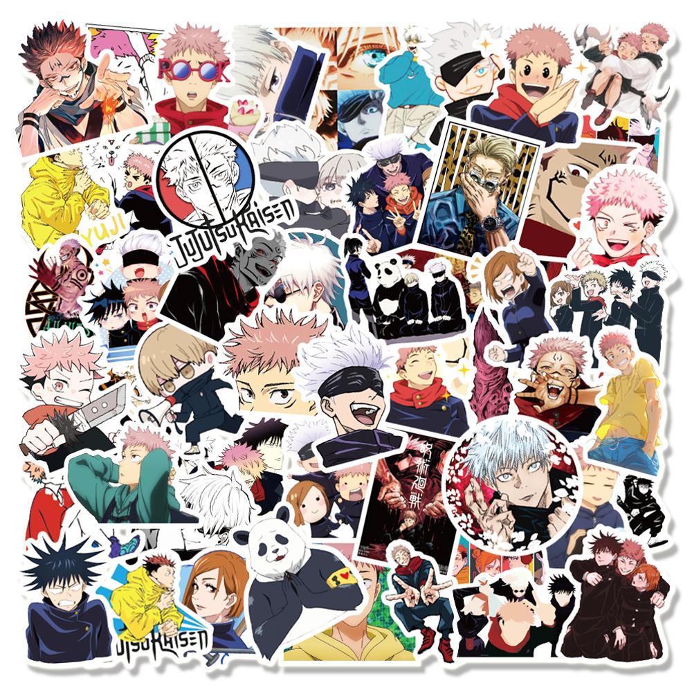 10/30/50/100PCS Anime Jujutsu Kaisen Graffiti Stickers for Laptop Skateboard Luggage Motorcycle Waterproof Decal Sticker Toy