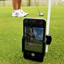 Golf swing recorder rotatable mobile phone holder golf practice