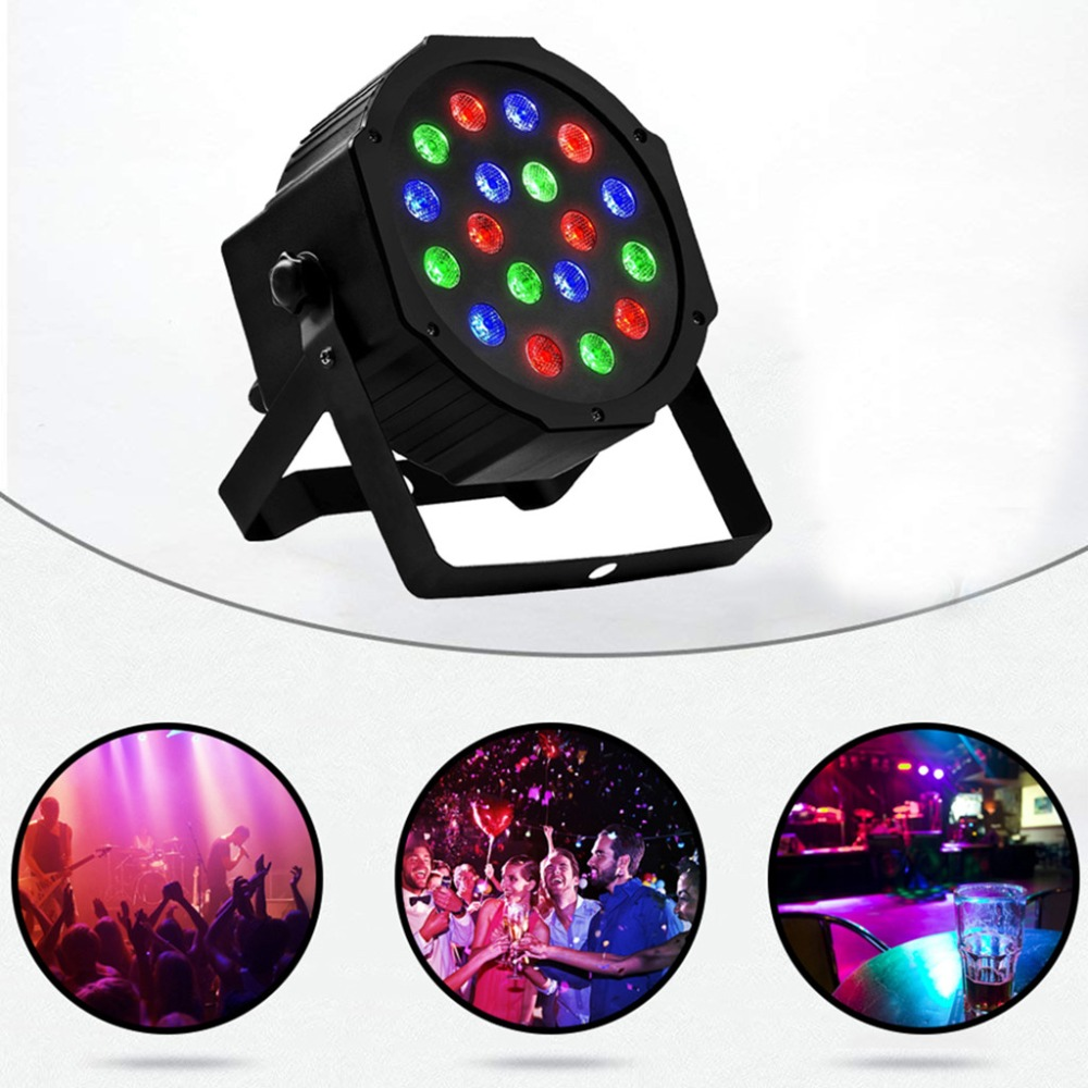 Disco Light Color DMX Voice Control Self-Propelled Laser Staining Stage Lights KTV Christmas 18LED (7)
