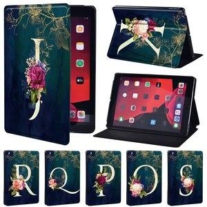 Чехол для планшета Apple IPad 5/6/7/8th / Mini 1/2/3/4/5/ IPad 2/3/4, защитный чехол из искусственной кожи с буквенным принтом и подставкой
