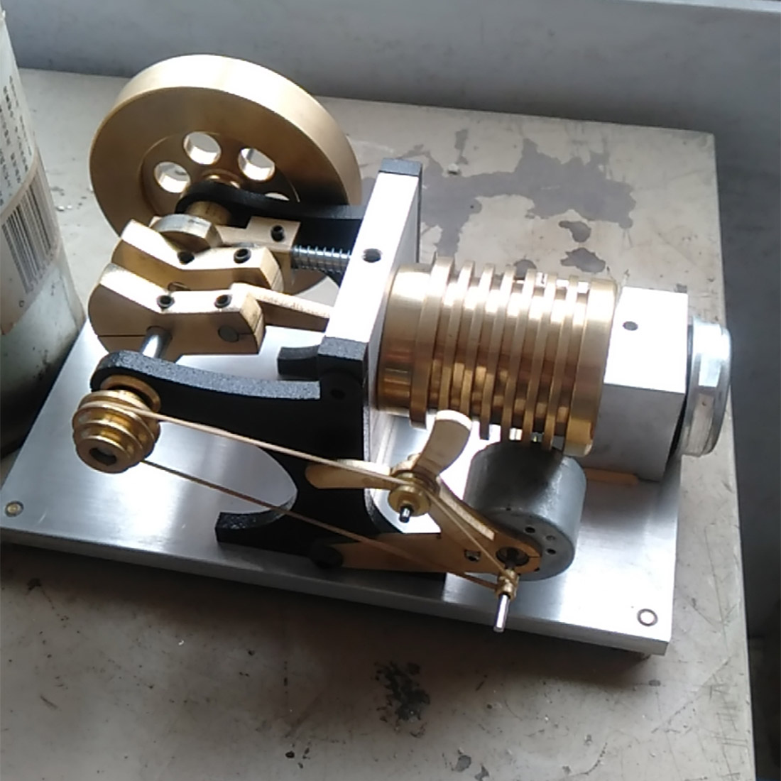 2020 New Hot Suction Fire Type Single-Cylinder All-Metal Stirling Engine Model - Modified Bracket Version