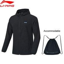 Li-Ning мужская куртка для бадминтона, дышащая, 91.1% полиэстер, 8.9% спандекс, подкладка, спортивное пальто AFDP483 MWF405