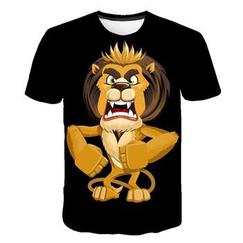 The Lion King Mashup kids T Shirt topy Lion Kingdom odzież dziecięca dzieci proste 3D chłopcy i dziewczęta Tshirt topy 4-14 lat tanie i dobre opinie spandex Moda Cartoon REGULAR O-neck Tees Krótki Pasuje prawda na wymiar weź swój normalny rozmiar Unisex 100CM~160CM