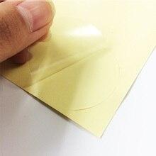 240 шт./лот прозрачный круглый пустой стикер этикетки «сделай сам» подарок самоклеющиеся Adesivos печать упаковочная этикетка