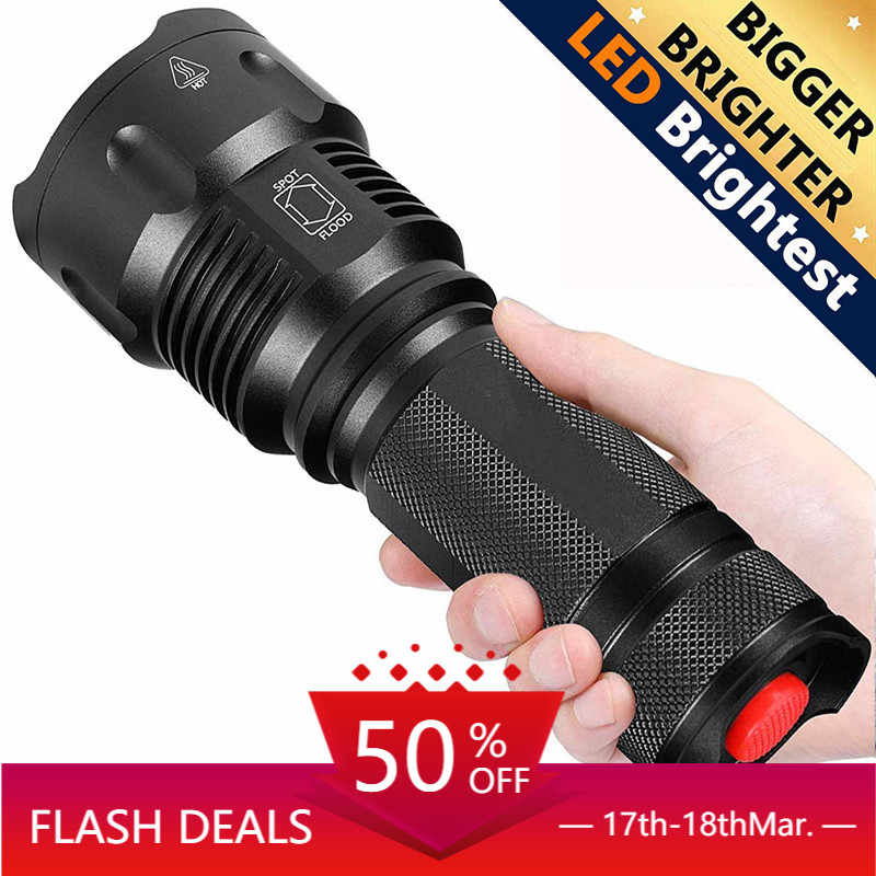 REHKITTZ Torch LED Tactical Military Torches Super Bright Powerful Lumens