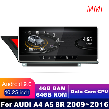 4G LTE 4GB+64GB Android display For AUDI A4 A5 B8 2009~2016 10.25 touch screen GPS Navigation car radio stereo dash multimedia image
