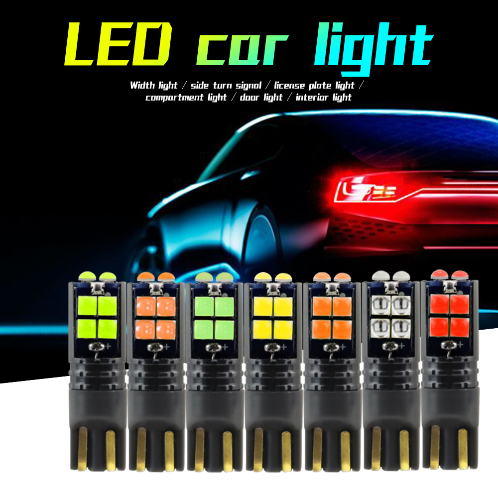 DXZ <font><b>10Pcs</b></font> W5W <font><b>T10</b></font> LED <font><b>Canbus</b></font> 3030 10SMD Car LED Clearance Light Interior Light 194 168 Auto Wedge Dome Reading Lamp лампочка 12V image