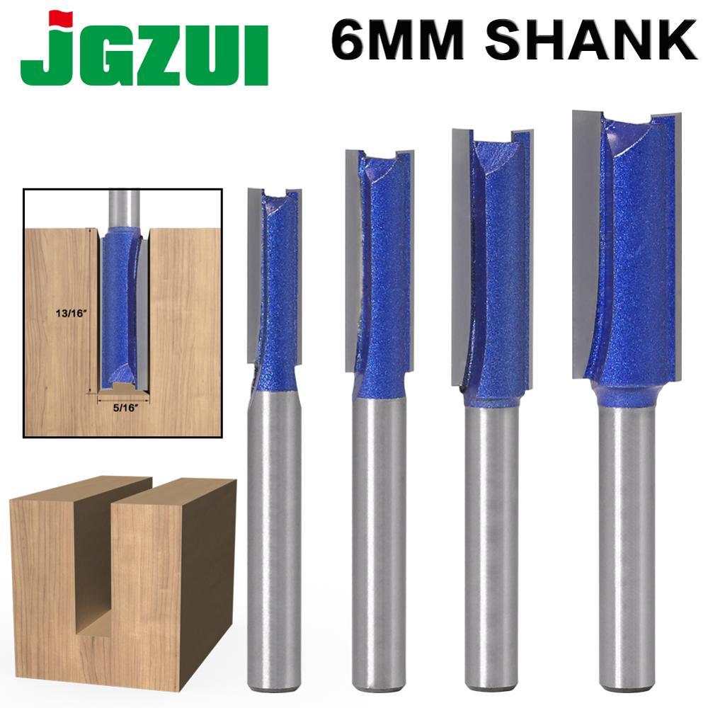 1PCS 6mm Shank Straight Woodworking Router Bit Set Carpenter Milling Cutter 1/4″,5/16″,3/8″,1/2″Cutting Diameter