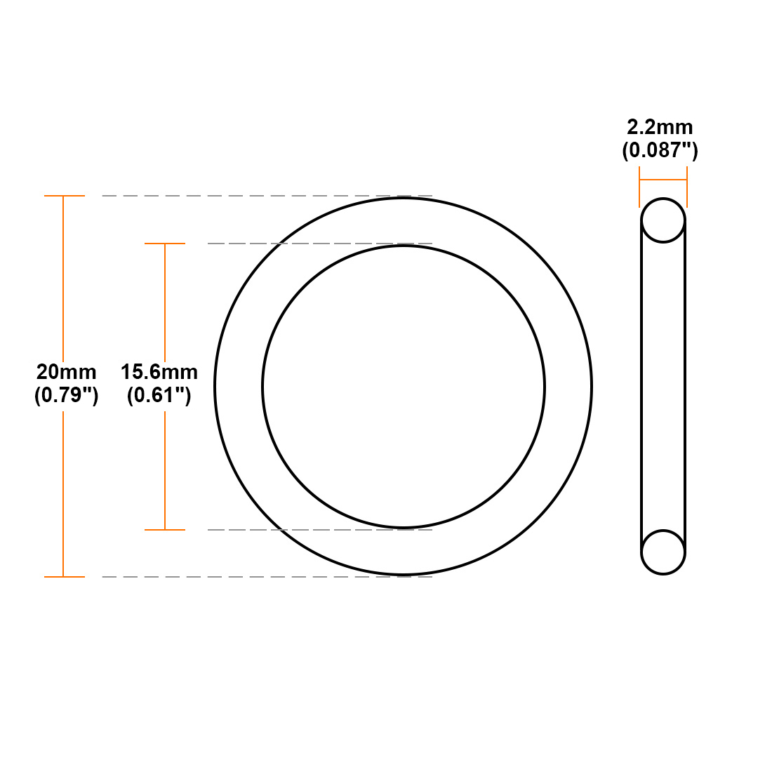 uxcell O-Rings Nitrile Rubber 21mm Inner Diameter 29mm OD 4mm Width Round Seal Gasket 5Pcs