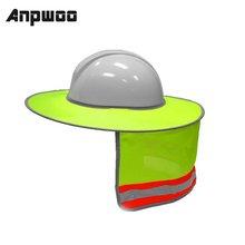Hard-Hat Helmets-Shield Sunshade Protective Construction Safety Stripe ANPWOO Outdoor