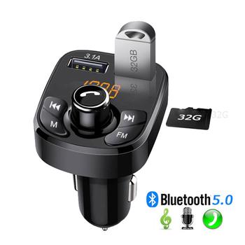 Kebidu samochodowy odtwarzacz Mp3 Bluetooth 5 0 nadajnik Modulator FM zestaw głośnomówiący akcesoria samochodowe Audio nadajnik FM 3 1A szybka ładowarka tanie i dobre opinie CN (pochodzenie) Stereo Bluetooth 5 0 FM Transmiter Double USB Phone charger As description 12 v Handsfree Car Kit Wireless FM Transmitter Modulator