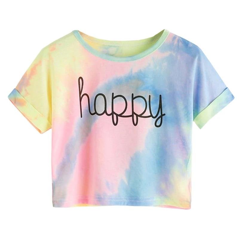 Women  T Shirt Fine Line Print Gift Tee Top Short Sleeve Chic  Nice