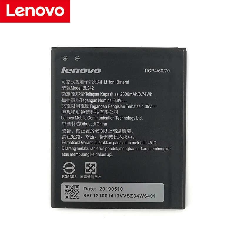 Lenovo 100% Original 2300mA BL242 batería para Lenovo K3 K30-W K30-T A6000 A3860 A3580 A3900 A6010 A6010 teléfono móvil